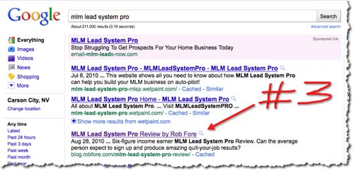 My Lead System Pro Results