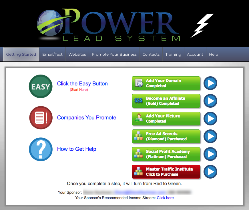 Power Lead System Login