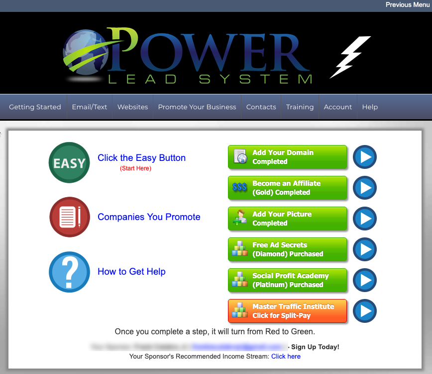 Power Lead System Quick Start Guide
