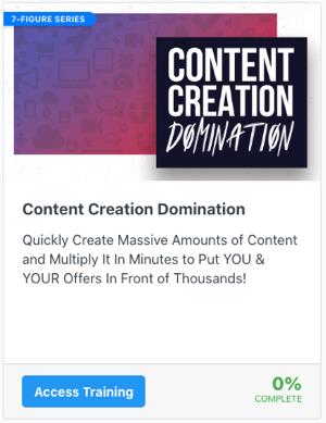 Content Creation Domination
